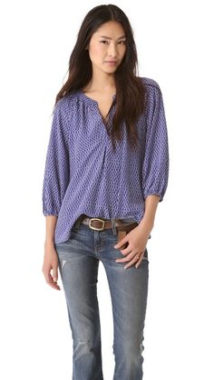 Joie Addie B Blouse- great with white jeans.