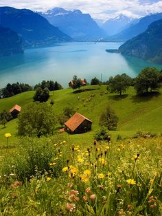 Lake Lucern, Switzerland - Click image to find more Travel Pinterest pins