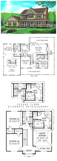 Country Farmhouse House Plan 96815