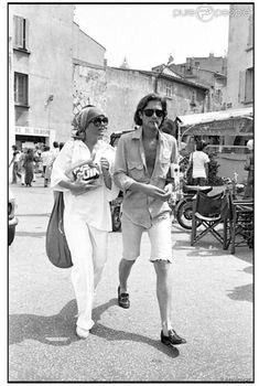 Summery Monochrome Whites — The Flair Index Alain Delon, Saint Tropez, Harry Meyen, Anouchka Delon, Sarah Biasini, Slim Aarons, Roman Polanski, Vintage Italy, Movies