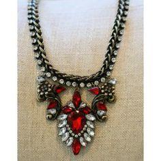 Reddress // A Big Deal Necklace-Ruby - $32.00