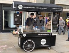 Bespoke hot dog and burger cart made to order. Street food carts made by Victorian Cart Company