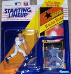 Up for sale is a 1992 Starting Lineup Nolan Ryan Texas Rangers MLB action figure with card and poster by Kenner. This Texas Rangers Nolan Ryan action figure comes new in original packaging and is an o