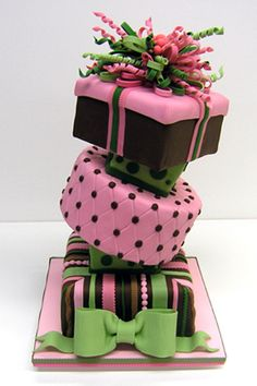 Cakes - in all shapes and sizes #cake www.BlueRainbowDesign.com