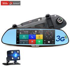 "Junsun 3 Г 7 ""Камера автомобиля DVR GPS Bluetooth с Двумя Объективами Зеркало Заднего Вида Видеорегистратор FHD 1080 P Автомобильный ВИДЕОРЕГИСТРАТОР Зеркало Dash cam"