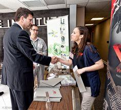 Congressman Dan Schneider meets Natalie Tuck at Wiegel Tool Works Photography: © 2014 McLaren Photographic LLC #McLarenPhotographic #mclarenphotos #TMAnet #CongressmanBradSchneider #SkillsTrainingIllinois