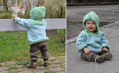 knit hoodie and pants patternit says size 7/8yr for free but I think it's actually the 6-12mo size. other sizes for sale  - Pickles