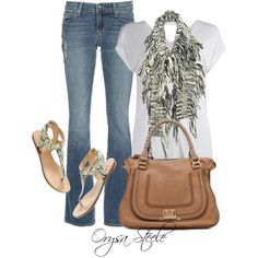 """Fave Jeans and a Tee"" by orysa on Polyvore"