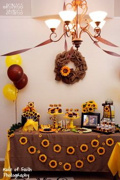 sunflower party decorations ideas for girls