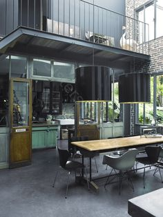"Ansel Adams once said ""A good photograph is knowing where to stand"", and Birgitta Wolfgang Drejer does just that – standing in the right place. Porches, Loft Kitchen, Old Factory, Space Place, Extra Rooms, Industrial Chic, Kitchen Remodel, Sweet Home, House Design"