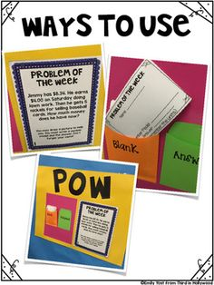POW: Problem of the Week  (Multi-Step Challenge Math for Y