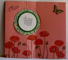 Inside of Poppy framelit flip card