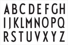 Typografia umieszczona LETTERS jest projektu światowej sławy duńskiego architekta Arne Jacobsena. Stworzył tą czcionkę w 1937 roku jako oznakowanie ratusza w Aarhus, którego był współautorem.