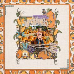 fall scrapbook ideas | think vines, cornstalks, pumpkins
