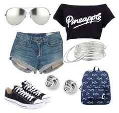 Untitled #30 by addictedtofashion68 on Polyvore featuring polyvore, mode, style, rag & bone, Converse, Forever 21, Lauren Ralph Lauren, FOSSIL and Linda Farrow