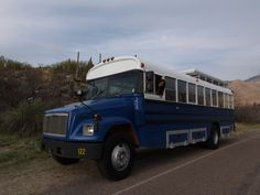Our remodelled school bus in Catalina State Park, AZ