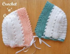 Crochet Baby Mittens CrissCross Bonnet Free Baby Crochet Pattern - Crochet 'n' Create - A crisscross bonnet, designed for a month baby and ideal for when they are starting to sit up and take notice of things around them, as well as . Crochet Baby Mittens, Crochet Baby Bonnet, Crochet Baby Clothes, Crochet Beanie, Crochet Hats, Baby Knitting, Crochet For Kids, Free Crochet, Bonnet Pattern