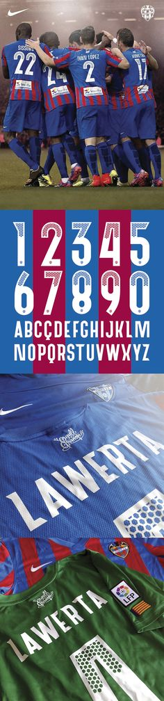 Levante U. Sports Uniforms, Free Fonts Download, Fa Cup, Typography Letters, Gd, Signage, Red And White, Police, Soccer