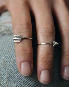Arrow knuckle rings. So cute and hippie like.