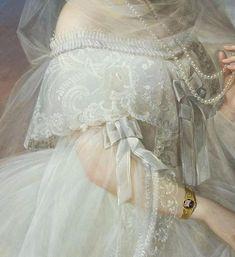 Ekaterina Nikolaevna Volotsky nee Zubova,1855-56 #OilPaintingFashion