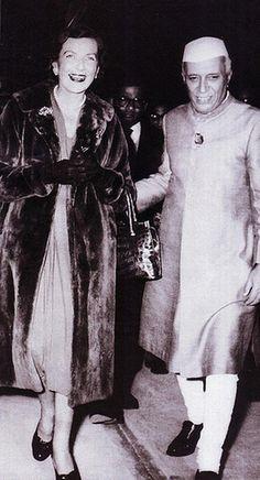 Edwina Mountbatten, Countess Mountbatten of Burma with Jawaharlal Nehru, first Prime Minister of India