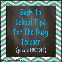 Some back to school tips to help teachers who are busy! Back To School Hacks, School Tips, School Ideas, First Year Teaching, Teaching Tips, Classroom Resources, Classroom Themes, Classroom Organization, Classroom Management