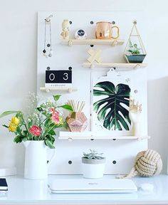 http://www.gelatolane.com/collections/new Kmart Peg Board, Diy Peg Board, Peg Boards, Kmart Desk, Kmart Home, Desk Inspo, Desk Inspiration, Bedroom Desk, Bedroom Inspo