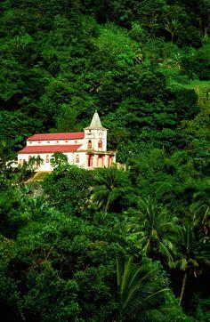 The Church near Balata in the region of #Martinique #France