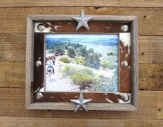 Create your own western cowhide frame