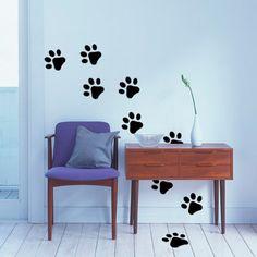 Bonitas huellas de animales de vinilo decorativo, para colocar dónde y cómo quieras.