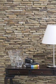 Ötletmozaik - Mediterrán hangulatú díszkő a nappali falán