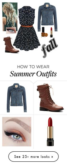 """""""Fall Outfit-18"""" by aquagal635 on Polyvore featuring Paige Denim, Lancôme and BARIELLE"""