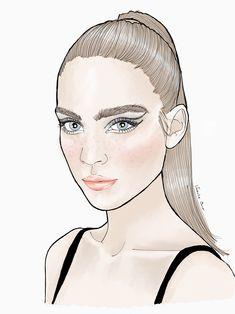 Portrait fashion illustration of Kim Noorda by verusveteris Fashion Illustrations, Disney Characters, Fictional Characters, Portrait, Disney Princess, My Style, Art, Art Background, Kunst