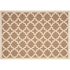 Safavieh Courtyard Fret Indoor Outdoor Rug, Brown