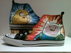 OMG, Adventure Time shoes! :D