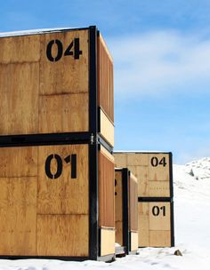 flying nest is designed by ora ito to offer the chance to be immersed in a remote location and this winter it will be open at the avoriaz ski resort. Shipping Container Buildings, Shipping Container Design, Shipping Containers, Ora Ito, Siding Materials, Prefabricated Houses, Wood Siding, Co Working, Modern Exterior