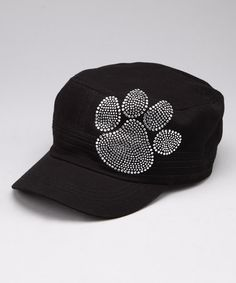2f056f67248 Take a look at this Clear Crystal Paw Rhinestone Cadet Cap by Rhinestone  Junkie on