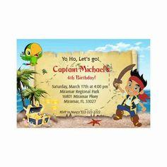 Jake and the Neverland Pirates Birthday Party - Boy invitation
