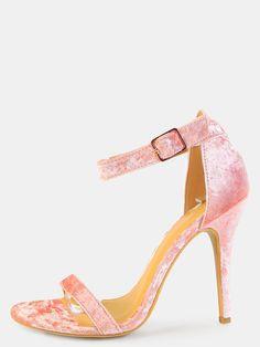 Open+Toe+Crushed+Velvet+Heels+BLUSH+27.60