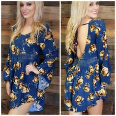 Night Garden Navy Floral Romper   Amazing Lace