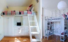 Camas en alto para espacios pequeños - Decofilia.com