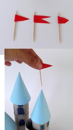 Reciclaje Rollos de Papel Castillos para Niños Cardboard Crafts Kids, Paper Roll Crafts, Crafts For Boys, Arts And Crafts, Holiday Program, Cardboard Castle, Jack And The Beanstalk, Princess Party, Projects To Try
