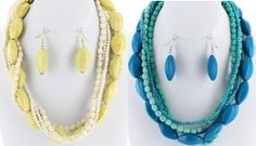 Acrylic Beaded Necklace Set from Bijoux Boutique