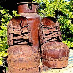 Steel boots... #boots #handycraft #rusty