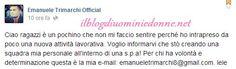 Emanuele Trimarchi ex scelta di Anna Munafò racconta il suo nuovo lavoro