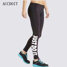 S-XL 19 Colors Women Leggings Workout Plus Size Just Do It Pink Print Women Fashion Loose Leggings Women Perneiras Feminino