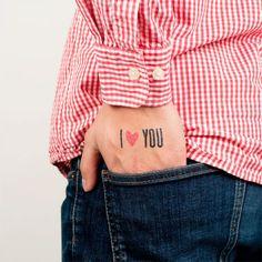 "Fake ""I Love You"" tattoo, by Tattly"