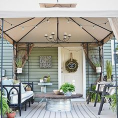 Back Patio Makeover - One way to get a roof over my patio!!