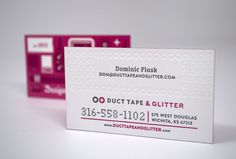 Duct Tape & Glitter. Fab name, fab cards!