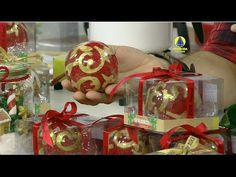 Santa Receita | Mini curso: sabonete esfera arabesco e embalagem de natal por Peter Paiva - YouTube